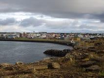 Keflavik Island Arkivbild