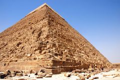 Kefren Pyramid on Giza, Cairo Royalty Free Stock Photo