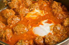 Kefta with eggs Royalty Free Stock Photos
