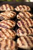 Keftes della carne sulla griglia Fotografia Stock