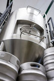 Keg and beer distillery at bewery Stock Photography
