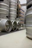 Keg at bewery. Modern keg at bewery Royalty Free Stock Photos