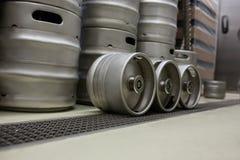Keg at bewery. Modern keg at bewery Stock Photography