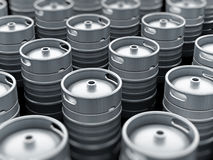 Keg stack Royalty Free Stock Photo