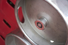 Keg Valve of a Steel Keg Stock Photography