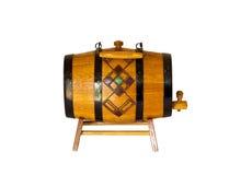 Keg for wine. Wooden keg for home wine Stock Photo