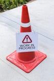 Kegel der Warnung Lizenzfreie Stockfotos
