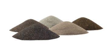 Kegel des Sandes - Mineralien der Minenindustrie Stockfotografie