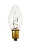 Kegel-Form-Glühlampe lokalisiert auf weißem Hintergrund clippi lizenzfreie stockfotografie