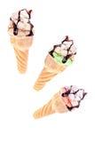 Kegel mit Eiscreme Lizenzfreies Stockbild
