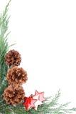 Kegel-und Stern Weihnachtsrand Lizenzfreie Stockfotografie