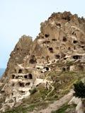 Kegel Villiage in Cappadocia, Turkije stock foto's