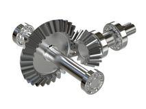 Kegelradgetriebe Ganggetriebe-Rotationswinkel Wiedergabe 3d stock abbildung