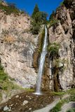 Kegety waterfall in Kyrgyzstan Stock Images