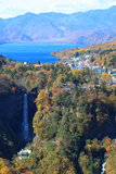 Kegon Falls and Lake Chuzenji in NIkko, Japan. Royalty Free Stock Photo