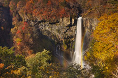 Kegon Falls near Nikko, Japan in autumn Royalty Free Stock Photography