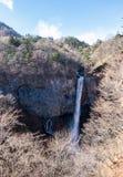 Kegon falls during winter forest, Nikko, Japan. Royalty Free Stock Image