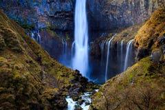Kegon waterfall in autumn, Nikko, Japan Stock Photography