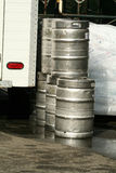 Kegs of Beer Royalty Free Stock Photography