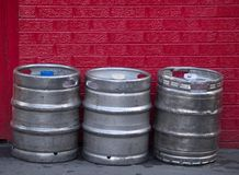 Kegs of beer Royalty Free Stock Images