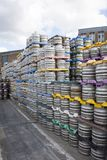 Kegs in the brewery stocked. Stock Photography