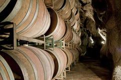 kegs underjordisk wine Arkivfoton