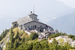 Kehlstein und Eagles nisten in den bayerischen Alpen Lizenzfreies Stockbild