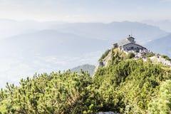 Kehlstein und Eagles nisten in den bayerischen Alpen Lizenzfreie Stockfotografie