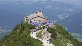 Kehlsteinhaus aka Eagle`s Nest in Germany stock video footage