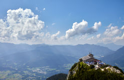 Kehlsteinhaus, ninho do ` s de Alemanha Eagle acima do Obersalzberg fotografia de stock