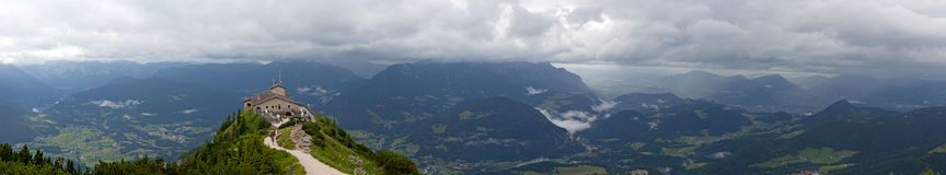 Kehlsteinhaus. Panorama. Hitler´s Summer house (Eagle nest royalty free stock image