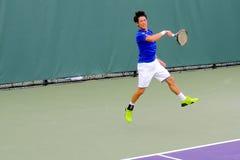 Kei Nishikori Atp-Tennis-Fachmann von Japan lizenzfreie stockbilder