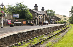 Keighey and Worth Valley Railway. Yorkshire. England. UK. Royalty Free Stock Photo