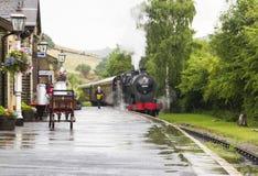 Keighey y digno de ferrocarril del valle yorkshire inglaterra Reino Unido Imágenes de archivo libres de regalías