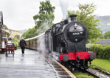 Keighley και άξιος σιδηρόδρομος κοιλάδων Γιορκσάιρ, Αγγλία, UK Στοκ Εικόνα