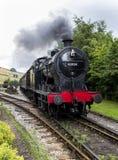 Keighley y digno de ferrocarril del valle Yorkshire, Inglaterra, Reino Unido Foto de archivo
