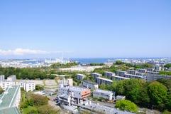 Keihin industrielle Region in Yokohama, Japan Lizenzfreie Stockfotos