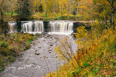 Keila-Joa waterfall by autumn, from above view Stock Photography