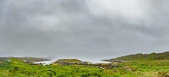 The Keillmore coast during rain. The Keillmore coast during the rain, Scotland royalty free stock photos