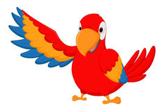 Keilschwanzsittichvogelkarikatur Stockfotos