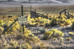 Kein übertretendes Wüsten-Ranch-Zeichen stockbilder