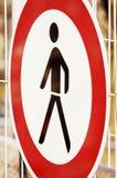 Kein übertretendes Zeichen Stockbilder