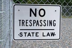 Kein übertretendes Zeichen auf Sicherheitszaun Lizenzfreies Stockbild