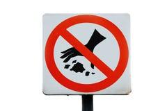Kein Abfall Stockbilder