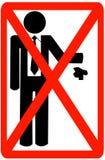 Kein Abfall lizenzfreie abbildung
