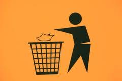 Kein Abfallzeichen Lizenzfreies Stockbild