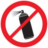 Kein Aerosolsprayzeichen Lizenzfreies Stockbild