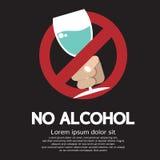 Kein Alkohol lizenzfreie abbildung