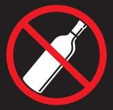 Kein Alkohol, der flache Ikone trinkt vektor abbildung
