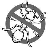 Kein Ant Sign Stockbilder